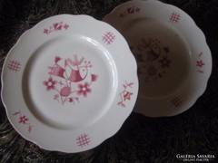 Zsolnay retró  lapos tányérok