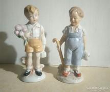 Német Lippensdorfi porcelán gyerekek