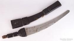 0K741 Észak afrikai kard bőr tokban