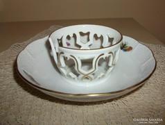 Herendi Rothschild mintás csésze tartó porcelán