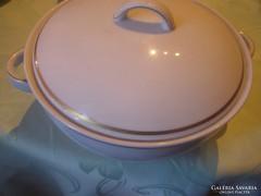 Német aranycsikos leveses tál kb 2 liter