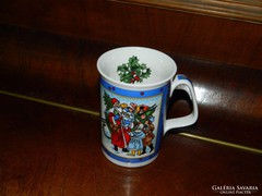 Mese jelenetes Mikulásos karácsonyi bögre IGG jelzett!
