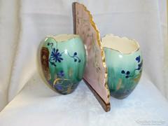 Nagyon különleges keleti porcelán kínáló/ dupla váza