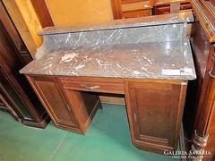 Antik Art-deco fésülködő asztal márvány lappal