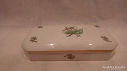 Herendi porcelán nagy csipkebogyós doboz