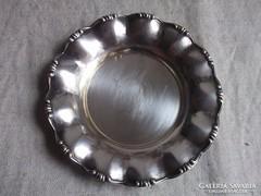 Ezüst tálka-tálca díszes hibátlan db.  átm.13 cm