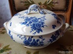 Antik Francia fajansz levesestál