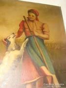 Antik szignós olajvászon festmény