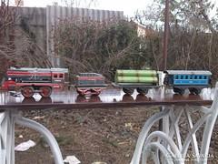 Western Germany 1956 óraműves vonatszerelvény-vasút modell igazi kuriózum !