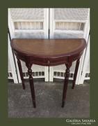 Kecses,fiókos,bőr betétes konzol asztal