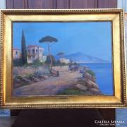 Pietro Toretti 1880-1927 nagymeretü mediterran latkep