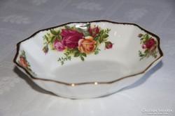 Sokszögű kínáló tálka - Royal Albert Old Country Roses