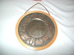 Horoszkópos réz, fa falitükör