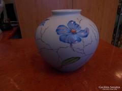 Rosenthal Art deco stílusú készi festésű váza jelezett