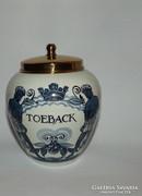 Holland  dohány tartó minőségi porcelán