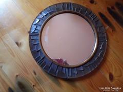 Jelzett bronz keretes fali tükör