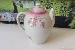 Régi hollóházi porcelán tea kiöntő kacsó magában