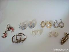 Izraeli bizsu vintage fülbevalók 7,5 pár egyben