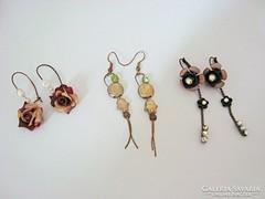Izraeli bizsu vintage fülbevalók 3 pár egyben