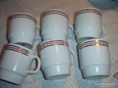 Alföldi szép csészék 6 darab  teás