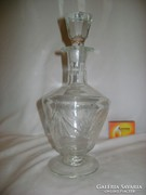 Metszett likőrös üveg, karaffa