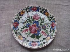 Antik Hollóházi festett tányér riolit porcelán nagyméret