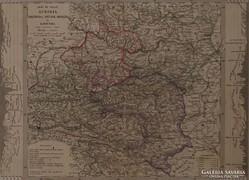 0L347 Antik acélmetszet térkép AUSZTRIA