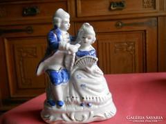 Porcelán páros figura