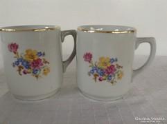Virágos porcelán bögre párban /Drasche/