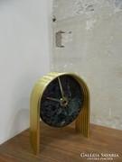 Német retro / bauhaus márvány / réz asztali óra