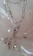 Divatos ezüst nyaklánc