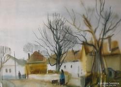 Szalóky Sándor akvarell