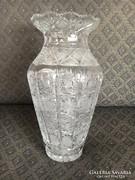 Csodaszép kristály váza, 31 cm, Cseh