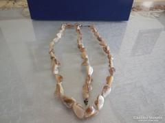 Kagyló nyaklánc és karkötő szett