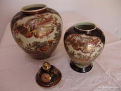 2 db kínai váza, urna