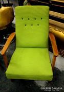 Zöld retro fotel