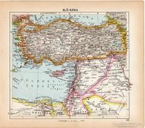 Elő - Ázsia térkép 1929, magyar nyelvű, régi