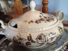 THUN(CSEH) porcelán nagyméretű antik levesestál - fedőjével