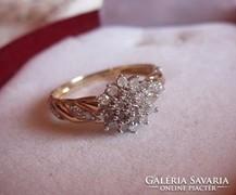 0,25 karát gyémánt, brilliáns arany gyűrű