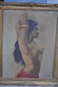 Olaj- vászon női akt