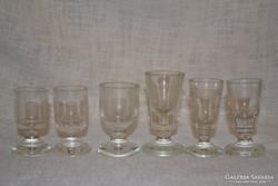 6 db régi snapszos talpas pohár ( DBZ 0073 )