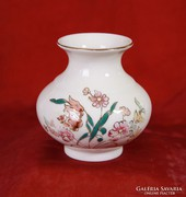 Zsolnay virágos váza (9 cm magas)