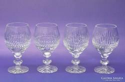 0L175 Régi likőrös talpas üveg pohár 4 darab