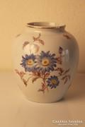 Art Deco porcelán váza virág díszítéssel