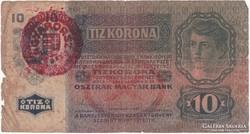 10 Korona 1915 - Magyarország felülbélyegzés
