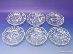 0L242 Hat személyes csiszolt üveg tányér készlet