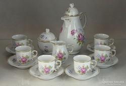 0L244 Hollóházi porcelán kávéskészlet 6 személyes