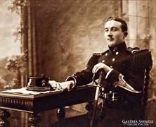 Katonatiszt, fénykép, 19. század vége