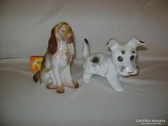 Régi Hollóházi és egyéb jelzésű kutya figura