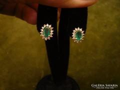 Smaragdos - brilles beszúrós fülbevaló